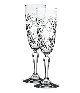 Image of Waterford 2-Piece Gracie Crystal Flute Set