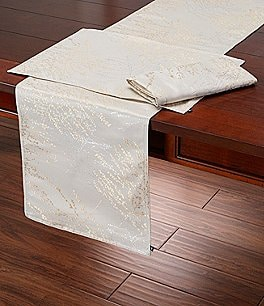Image of Waterford Holiday Timber Metallic Jacquard Table Linens