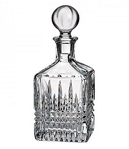 Image of Waterford Lismore Diamond Crystal Square Decanter