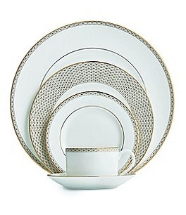 Image of Waterford Lismore Diamond Gold 5-Piece Place Setting