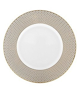 Image of Waterford Lismore Diamond Gold Accent Plate