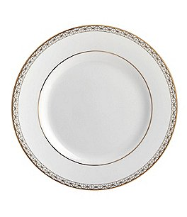 Image of Waterford Lismore Diamond Gold Bread and Butter Plate