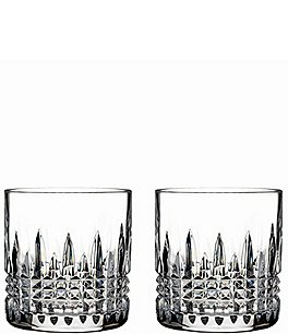 Image of Waterford Lismore Diamond Crystal 7 oz. Straight Sided Tumbler Pair