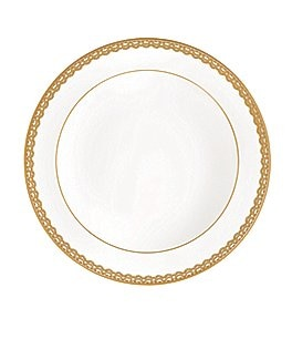 Image of Waterford Lismore Lace Gold Bone China Rimmed Soup Bowl