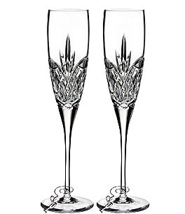 Image of Waterford Love Forever Crystal Wedding Toast Flute Pair