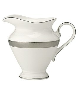 Image of Waterford Newgrange Platinum Celtic Scroll Bone China Creamer
