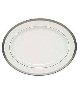 Image of Waterford Newgrange Platinum Celtic Scroll Bone China Oval Platter