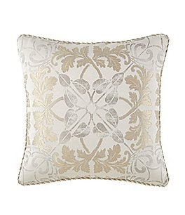 Image of Waterford Olivette Medallion & Herringbone Square Pillow