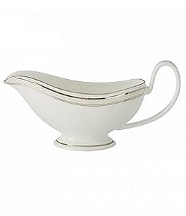 Image of Waterford Padova Platinum Bone China Gravy Boat