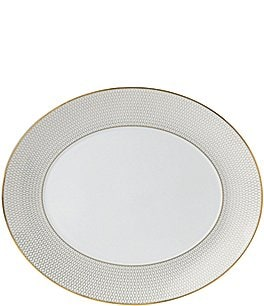Image of Wedgwood Arris Geometric Bone China Oval Platter