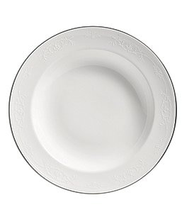 Image of Wedgwood English Lace Bone China Rimmed Soup Bowl