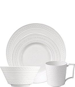 Image of Wedgwood Intaglio Neoclassical Embossed Bone China 4-Piece Place Setting