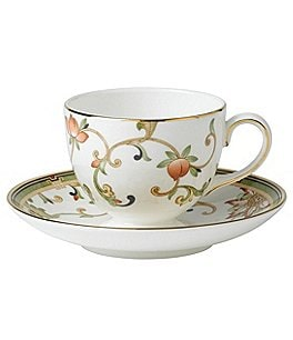 Image of Wedgwood Oberon Chinoiserie Floral Vine Bone China Cup & Saucer