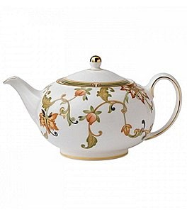 Image of Wedgwood Oberon Vine & Flora Gold Bone China Teapot