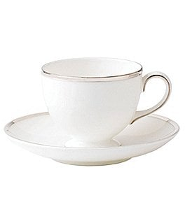 Image of Wedgwood Sterling Silver China Cup & Saucer