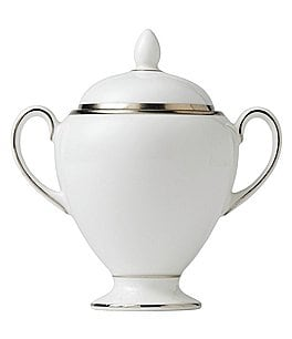 Image of Wedgwood Sterling Sugar Bowl with Lid