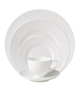 Image of Wedgwood White Bone China 5-Piece Place Settting