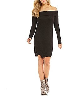 Image of William Rast Kennedy Cozy Off-The Shoulder Sweater Dress