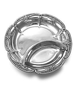 Image of Wilton Armetale Belle Mont Chip & Dip Server
