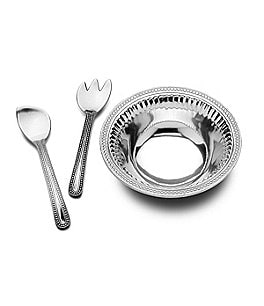 Image of Wilton Armetale Flutes & Pearls 3-Piece Salad Set