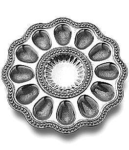Image of Wilton Armetale Flutes & Pearls Egg Tray
