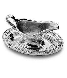 Image of Wilton Armetale Flutes & Pearls Gravy Boat