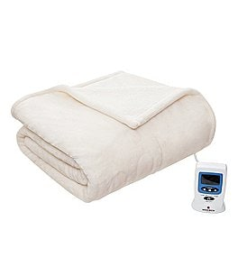 Image of Woolrich Luxury Plush & Berber Heated Blanket