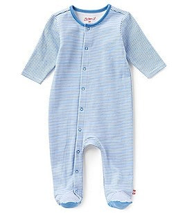 Image of Zutano Baby Boys Newborn-6 Months Striped Footed Coverall