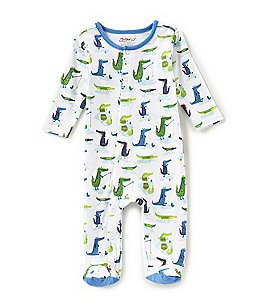 Image of Zutano Baby Boys Newborn-9 Months Crocodile-Printed Footed Coverall