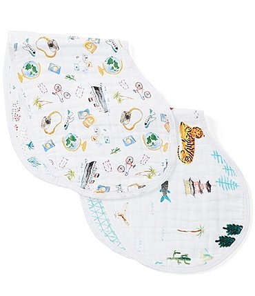 Image of Aden + Anais 2-Pack Muslin Classic Around the World Burpy Bibs