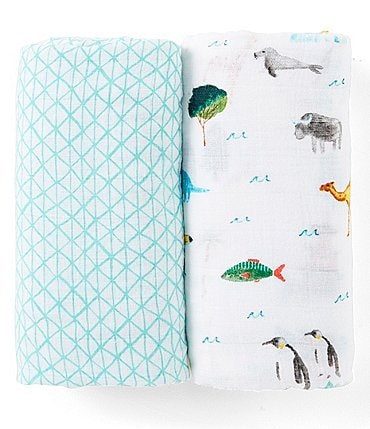 Image of Aden + Anais 2-Pack Muslin Classic Around the World Swaddle Blankets