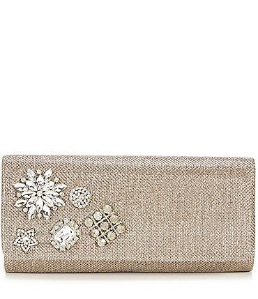 Image of Adrianna Papell Sunny Metallic Brooch Clutch