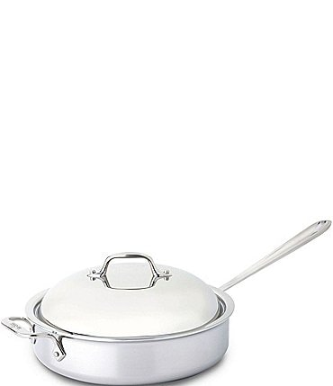 Image of All-Clad Stainless Steel 4-Quart Saute Pan with Dome Cover