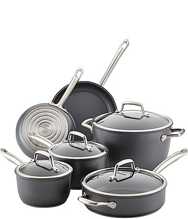Image of Anolon Accolade Forged Hard-Anodized Precision Forge 10-Piece Cookware Set