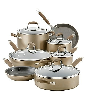 Image of Anolon Advanced Home Hard-Anodized Nonstick Bronze 12-Piece Cookware Set