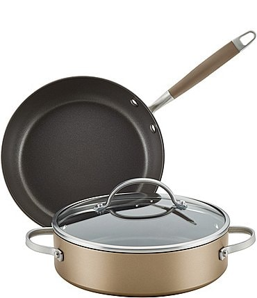 Image of Anolon Advanced Home Hard-Anodized Nonstick Bronze 3-Piece Cookware Set