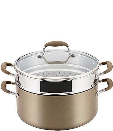 Image of Anolon Advanced Home Hard-Anodized Nonstick Wide Stockpot with Multi-Function Insert