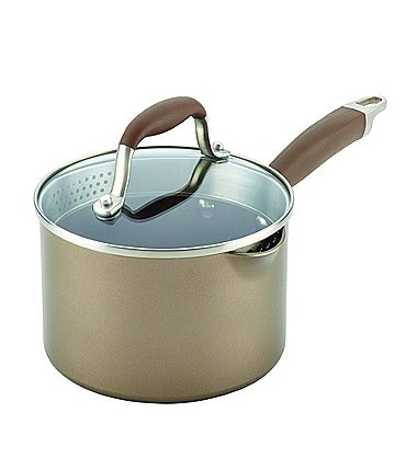 Image of Anolon Advanced Umber 2-Quart Nonstick Sauce Pan with Straining Lid