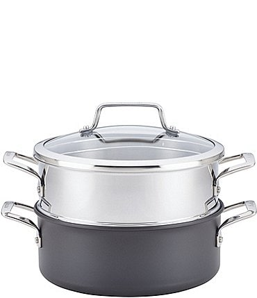 Image of Anolon Authority Hard-Anodized Dutch Oven with Stainless Steel Steamer Insert