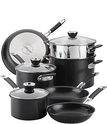 Image of Anolon SmartStack Hard-Anodized 10-Piece Cookware Set