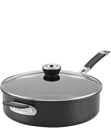 Image of Anolon SmartStack Hard-Anodized 5-Quart Covered Saute with Helper Handle and Cover