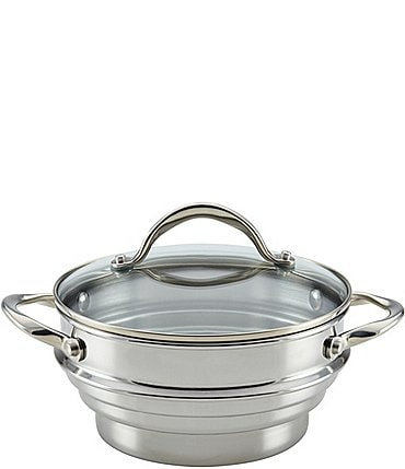 Image of Anolon Stainless Steel Universal Steamer with Glass Lid