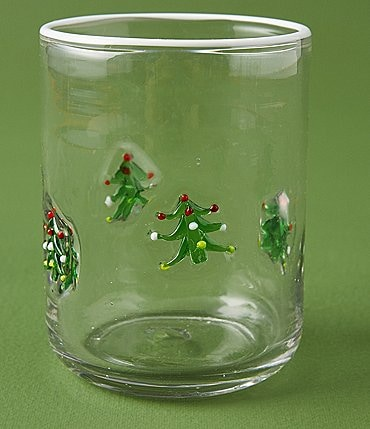 Image of Anthropologie Home Christmas Tree Jovie Bead Juice Glass