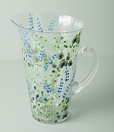 Image of Anthropologie Home Clemence Blue Pitcher