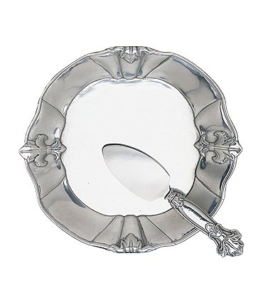 Image of Arthur Court Fleur-de-Lis Plate with Server