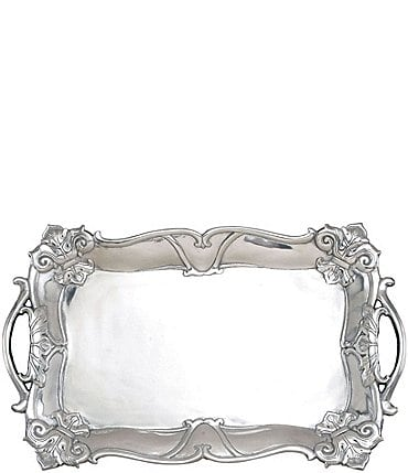 Image of Arthur Court Fleur-de-Lis Rectangular Tray with Handles