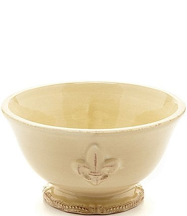 Image of Artimino Fleur-de-Lis Beveled Earthenware Footed Soup Bowl