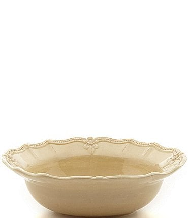 Image of Artimino Fleur-de-Lis Beveled Earthenware Serving Bowl