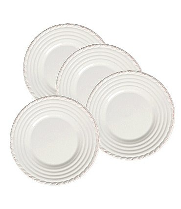 Image of Artimino 4-Piece Tuscan Countryside Rope-Edged Stoneware Dinner Plate Set