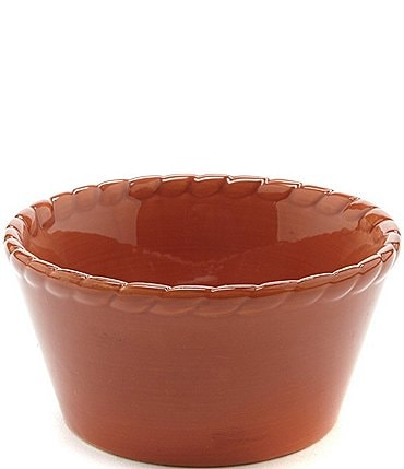 Image of Artimino Tuscan Countryside Rope Edged Stoneware Ramekin
